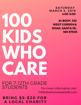 100 Kids Who Care in Santa Fe-3